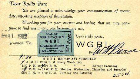 DearRadioFan - postcard front