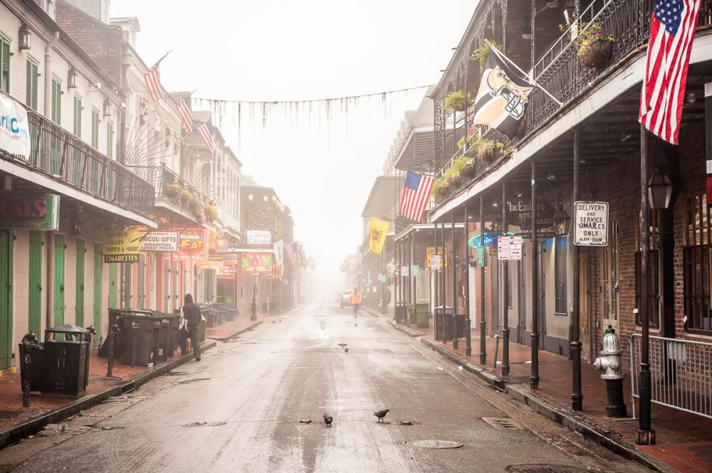 """Bourbon Street""  New Orleans, 12/4/14 Format: digital via Nikon D700"
