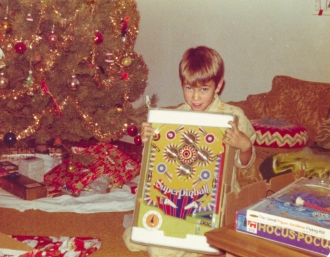 The author with a new toy.  Photographer unknown.  December, 1975.
