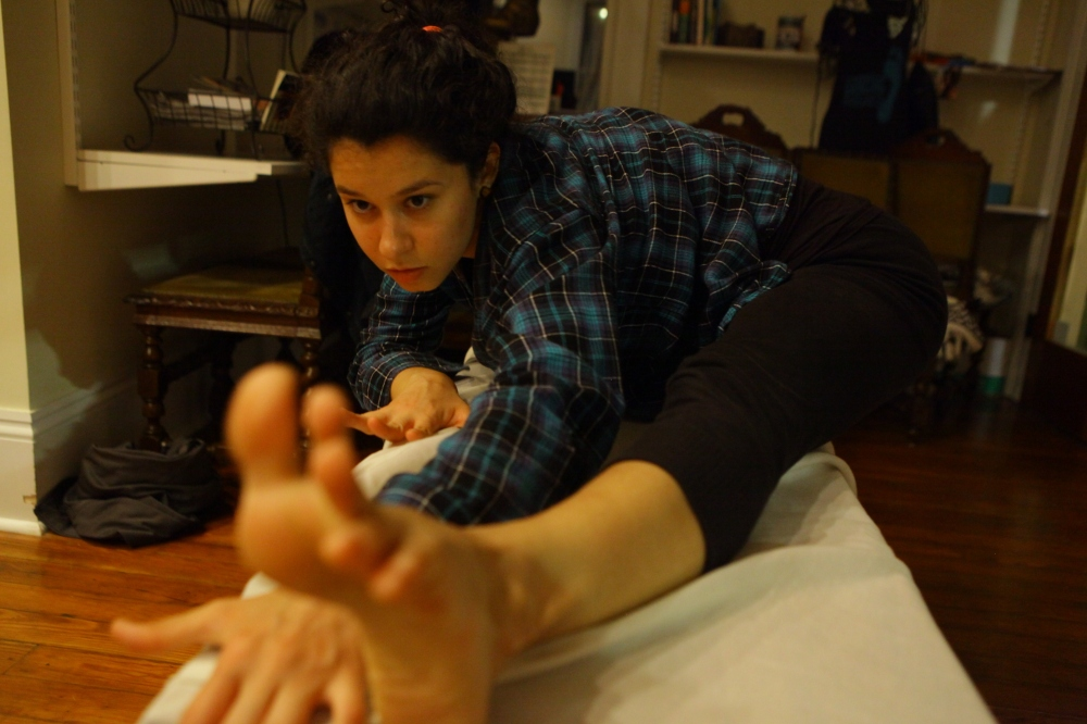 Yanina's foot